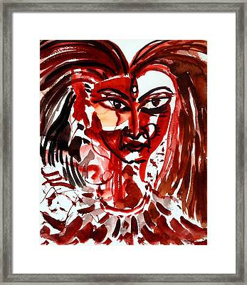 Goddess Kali Framed Print by Ayan  Ghoshal