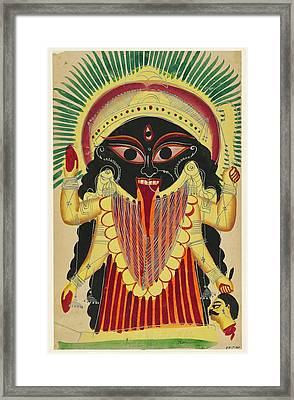 Goddess Kali Framed Print by Unknown