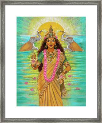 Goddess Lakshmi Framed Print by Sue Halstenberg