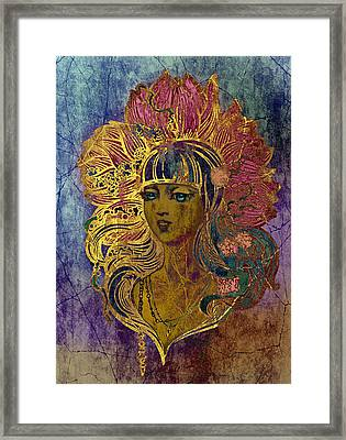 Goddess Lotus I Framed Print by Irina Effa
