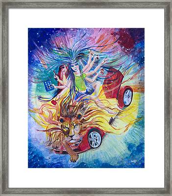 Goddess Of 21st C Framed Print