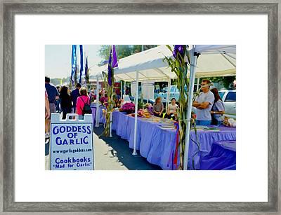 Goddess Of Garlic 1 Framed Print