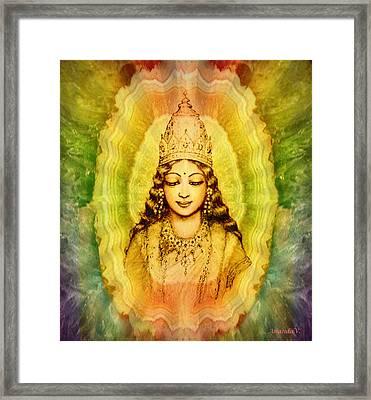 Goddess Of Gems Framed Print by Ananda Vdovic
