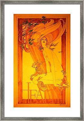 Goddess Of Health Framed Print by Gary Kaemmer