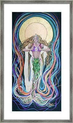 Goddess Of Intention Framed Print by Angel Fritz