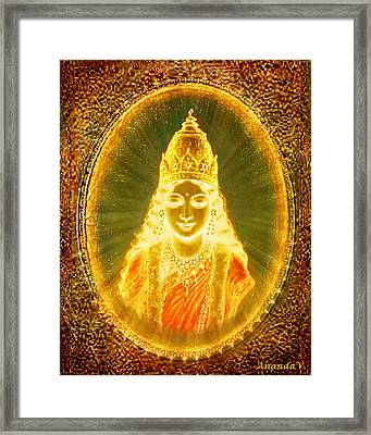 Goddess Of Light Framed Print by Ananda Vdovic