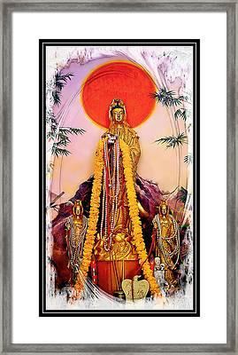 Goddess Of Mercy Quan Yin Framed Print