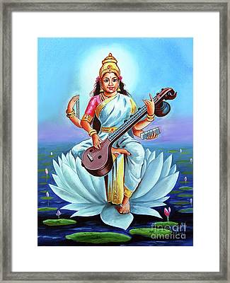 Goddess Of Wisdom And Knowledge Framed Print