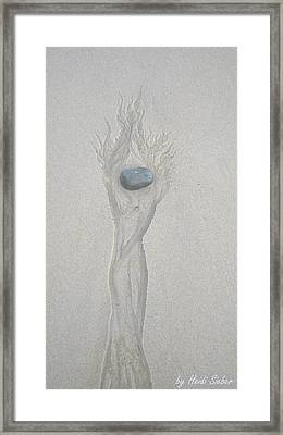 Goddess On Fire Framed Print