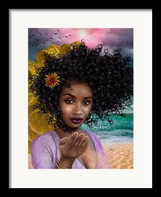 Oshun Digital Art Framed Prints