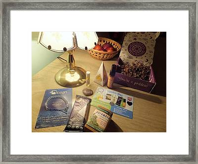 Framed Print featuring the photograph Goddess Provisions Box For June 2017 by Denise Fulmer