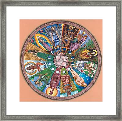 Goddess Wheel Guadalupe Framed Print by James Roderick