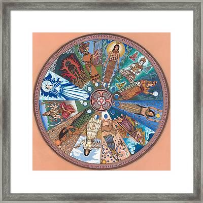 Goddess Wheel Wbwoman Framed Print