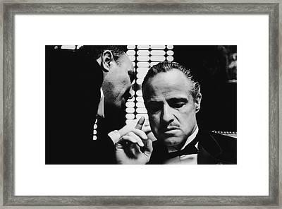 Godfather Brando Framed Print