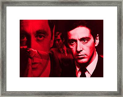 Godfather In Red Framed Print