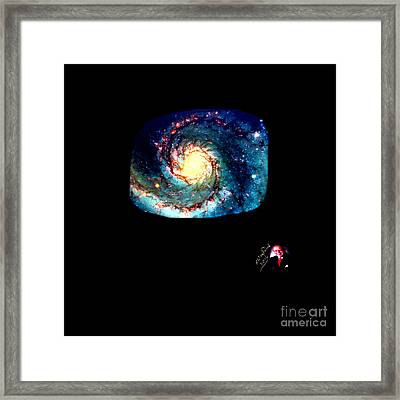 Godhood 2 - Whirlpool Galaxy Framed Print by Richard W Linford