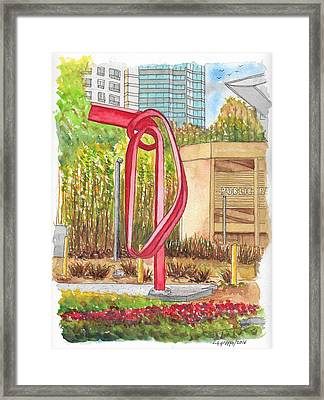 Godot, Sculpture By Bret Price In Century City, California Framed Print