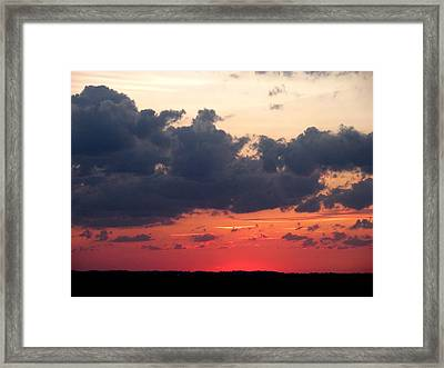God's Art Framed Print by Jeanette Oberholtzer