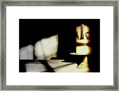 Gods Candle.. Framed Print
