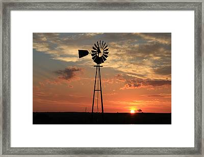 God's Country At Sunrise Framed Print by Tony Grider