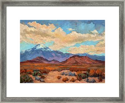 God's Creation Mt. San Gorgonio  Framed Print by Diane McClary