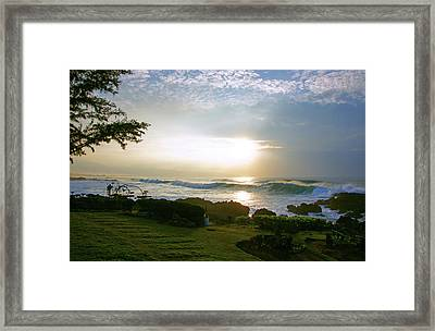 God's Giant Spotlight Framed Print