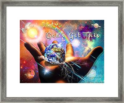 God's Got This Framed Print by Dolores Develde