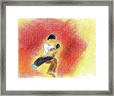 God's Grace Framed Print by Marie Loh