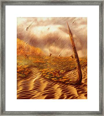Gods Hand Painting With Life Framed Print by Robby Donaghey