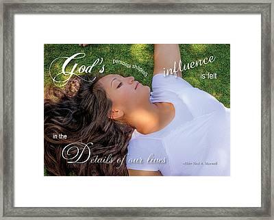 Gods Influence Framed Print