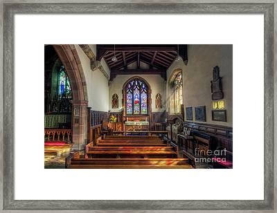 Gods Light Framed Print