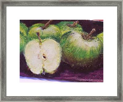 Gods Little Green Apples Framed Print by Karla Phlypo-Price