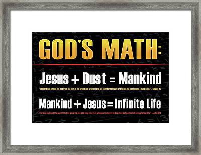 God's Math Framed Print by Shevon Johnson