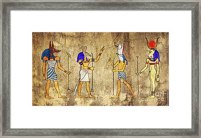 Gods Of Ancient Egypt Framed Print