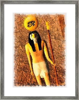 Gods Of Egypt - Horus Framed Print by Raphael Terra