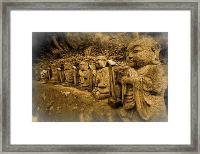 Framed Print featuring the photograph Gods Of Japan by Daniel Hagerman