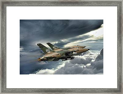 Gods Of Thunder Framed Print