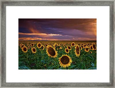 God's Painted Sky Framed Print by John De Bord