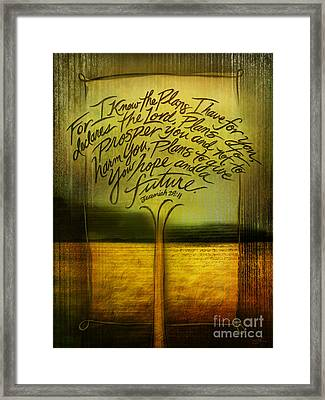 God's Plans Framed Print by Shevon Johnson