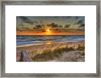 God's Promise Of A New Day Framed Print by E R Smith
