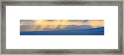 God's Rays Over The Great Basin  Framed Print