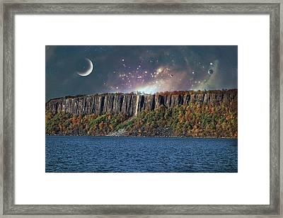God's Space Over Planet Earth Framed Print