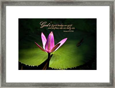 God's Spirit Framed Print
