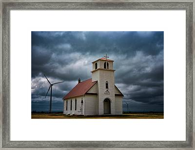 God's Storm Framed Print by Darren White