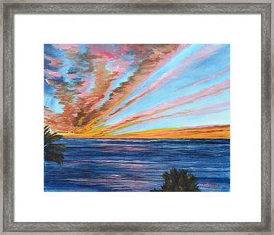 God's Magic On The Key Framed Print