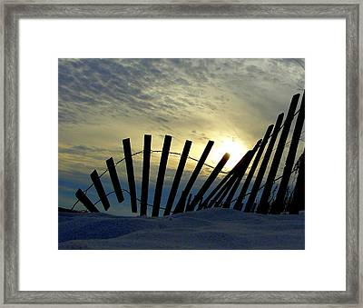 God's Timing Framed Print
