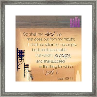 God's Word Has #creative #power Framed Print