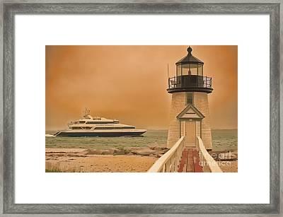 Godspeed At Brant Point Nantucket Island Framed Print