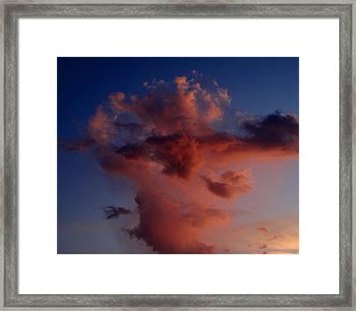 Godzilla Cloud-debbie-may Framed Print by Debbie May