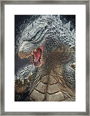 Godzilla - King Of Monsters Framed Print